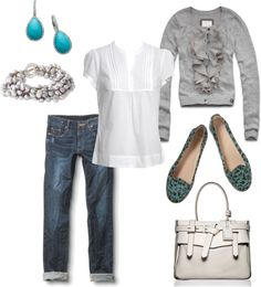 """aqua + grey (for spring)"" by jnne on Polyvore"