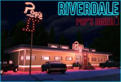 RIVERDALE Pop's Diner by Waterwoman by Akisima for The Sims 4