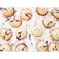 Mini Blueberry Lavender Hand Pies