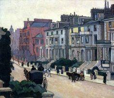 From the Artist's Window Robert Bevan. Camden Town Group