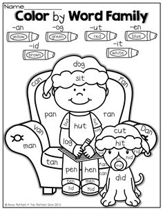 Printables Word Family Worksheets Kindergarten cvc word family worksheets at happy pictures and poster color by family