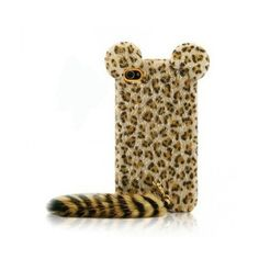 Funny Leopard Print iPhone 5 Cases with Panther Tail iphone5vip ($20) ❤ liked on Polyvore