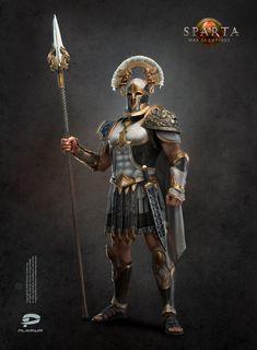 ArtStation - King guard, Tamara Konstanchenko Fantasy Character Design, Character Inspiration, Character Art, Fantasy Heroes, Fantasy Characters, Medieval Armor, Medieval Fantasy, Roman Armor, Greek Soldier