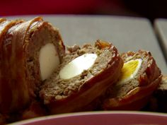 This is how my aunt used to make meatloaf when I was little--with a boiled egg in the middle