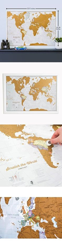 Other travel maps 164807 personalized scratch off world map 381 other travel maps 164807 personalized scratch off world map 381 x 236 inches scratch off world map buy it now only 3929 on ebay gumiabroncs Gallery