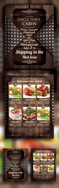 Food Delivery Flyer (CS, 8.5x11, cafe, classic, delicious menu, delivery, fast food, food, food delivery, menu, menu design, multipurpose, old, print template, restaurant, retro, vintage)