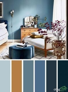 Brown and blue bedroom color schemes blue and brown bedroom color inspired find color inspiration ideas . brown and blue bedroom color schemes Blue Bedroom Colors, Bedroom Design, House Design, Brown Bedroom, Brown Bedroom Colors, Interior Design Color, Living Room Wall Color, Home Decor, Bedroom Color Schemes