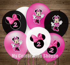 INSTANT DOWNLOAD Minnie Mouse Balloon Stickers Minnie Mouse