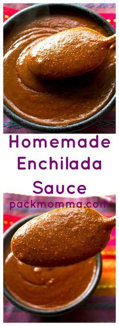 Homemade Enchilada Sauce | Homemade Enchilada Sauce is so quick and easy to make and will blow the canned stuff right out of your pantry! Rich, thick, spicy and delicious! | Pack Momma
