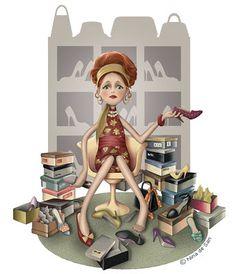 Illustrations - Bedrooms For Girls Vintage Colour Palette, Art Fantaisiste, Animation, Marquis, Cute Images, Whimsical Art, Cute Illustration, Oeuvre D'art, Art Pictures