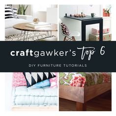 From Ikea hacks to woodworking and restorations, we are listing some of our top favorite DIY furniture posts! Find the tutorials below.