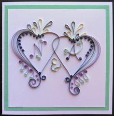 Quilled engagement card for Natalie & Arash