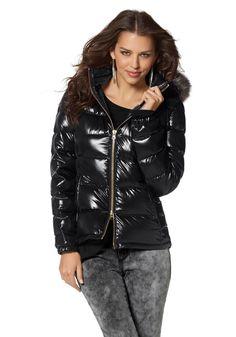 Laura Scott Daunenjacke Laura Scott, Puffy Jacket, Skinny, Mantel, Cool Girl, Leather Jacket, Tops, Jackets, Shopping