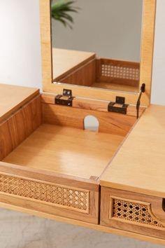 Japanese Inspired Bedroom, Modern Bedroom, Bedroom Decor, Japanese Home Decor, Small Vanity, 6 Drawer Dresser, Mattress Springs, Storage Compartments, Platform Bed