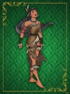 Queen Pocahontas- Disney Queen designer collection by GFantasy92 on deviantART
