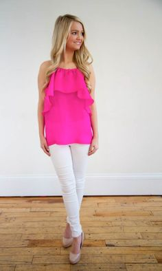 LaRoque Riley top in pink