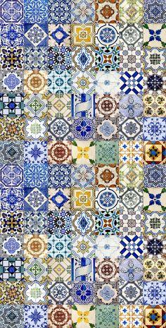 Colagem de azulejos de Lisboa e Porto, Portugal. Tiles | Portugal #Lisbon/Porto.