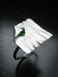 Sterling silver and green zirconium.Forged by Quercus silver