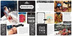 Project Life layout by Kelly Sill. Features the Chalkboard Value Kit