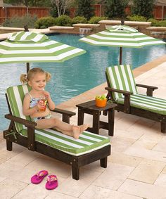 Adorable Summer Chaise Lounges for Kids