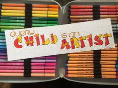 Every child is an artist #handlettering #diy #quote