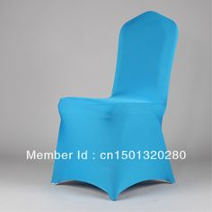 Delightful 100 Pieces Of Free Shipping Blue Spandex Lycra Chair Cover For Weddings