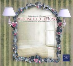Specchio Archivolto di Rose con due luci