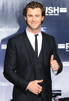 Chris Hemsworth walked the red carpet at the premiere of his film Rush in Germany