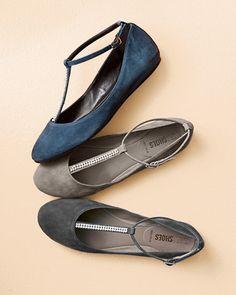 Nara Shoes T-Strap Ballerina Flats   Garnet Hill