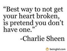 best way not to get heart broken