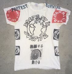 """PROTEST & SURVIVE"" DISCHARGE CHANT SHIRTS...PRINTED ON VINTAGE TEES AVAIL @wackywacko by cometees"