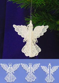 Christmas 3D Angel (Lace) || Machine Embroidery Designs at Embroidery Library! -