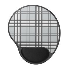 #Grayscale Tartan Pattern Gel Mouse Pad - #office #gifts #giftideas #business