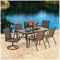 Wilson & Fisher® Sanibel 7-Piece Dining Set at Big Lots.