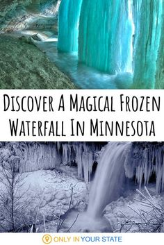 Minnehaha Falls in Minnesota is magical in the winter months. Absolutely beautiful when frozen, it's a photographer's paradise. Nature sure can be wonderful! | Winter Hiking | Photography | Things To Do | Scenic | Bucket List Winter Hiking, Winter Fun, Winter Travel, Summer Fun List, Summer Bucket, Duluth Minnesota, Minnesota Wild, Outdoor Dates, Hiking Photography