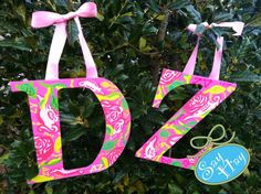 #DZ hand painted letters inspired by @Lilly Pulitzer #Delta #Zeta.