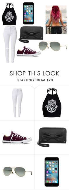 """It's a nice day"" by batgiirl23 ❤ liked on Polyvore featuring Converse and Ray-Ban"