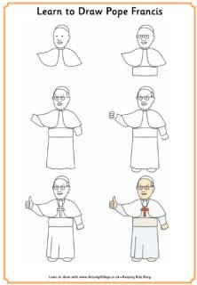 Learn to draw Pope Francis