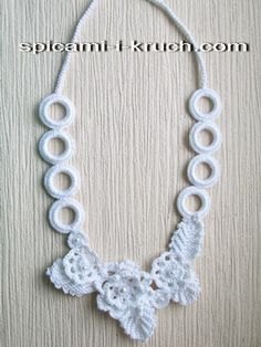 Колье крючком 1.. Free diagrams for making this necklace!
