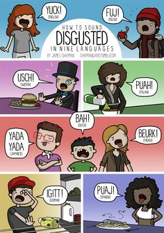 """John Evans on Twitter: """"What do you say in your language if something is disgusting? In Welsh we say ych y fi! @chapmangamo has more examples http://t.co/UfKJcKg8M0"""""""
