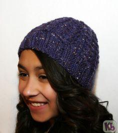 Tweed Beanie - knitting loom - free pattern