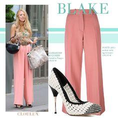 Blake Lively in einer Flare-Pants in zartem rosa! Blake Lively Outfits, Blake Lively Style, Flare Pants, Super, Street Style, Celebrities, Women, Fashion, Pink