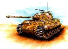 Imagen Tiger Ii, Tiger Tank, Old Tractors, Ww2 Tanks, German Army, Panzer, World War Two, Military Vehicles, Military Tank