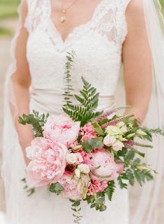 Pink Peony Bouquet | photography by http://www.lisaodwyer.com/