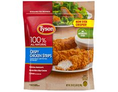 Change Meta Description To: Keep quick meals on hand with Tyson® crispy chicken strips – now even crispier! Made from chicken raised with no antibiotics and no preservatives. Crispy Chicken Wraps, Healthy Fried Chicken, Breaded Chicken, Baked Zuchinni Recipes, Dog Food Recipes, Chicken Recipes, Diet Recipes, Sweet Potato Cheesecake, Tyson Chicken