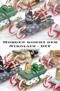 Last minute Nicholas present - Sweet DIY-for San Nicolás Day. Small gifts get . Last minute Nicholas present - Sweet DIY. Noel Christmas, Christmas Presents, Christmas Crafts, Xmas, Christmas Wedding, Christmas Tables, Easy Diy, Sell Diy, Christmas Letters
