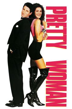 """Pretty Woman"" The movie poster has Julia Roberts' head superimposed on a curvier body double's body: L.A./Hollywood as a kind of illusion..."