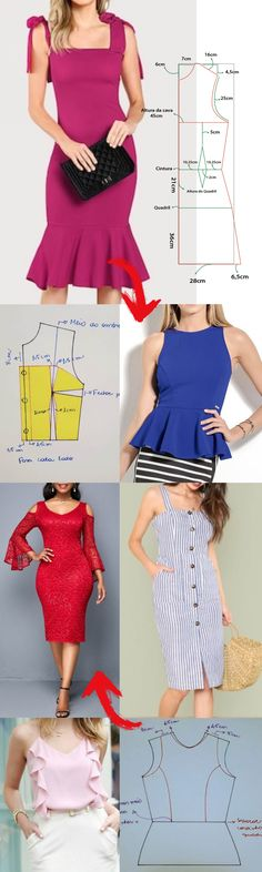 Awesome 30 sewing hacks projects are offered on our site. Dress Sewing Patterns, Clothing Patterns, Plus Size Skater Dress, Sewing Blouses, Lace Decor, Creation Couture, Sewing Projects For Beginners, Diy Dress, Top Pattern