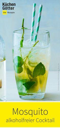 Ein herrlich erfrischend minziger #Cocktail ganz ohne Alkohol. Perfekt für den #Sommer. Wir zeigen dir, wie du den #Mocktail einfach selber mixt.