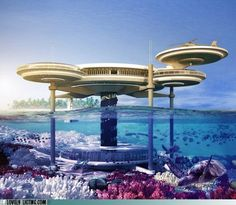 Soon in Dubai you can visit a hotel under the ocean!